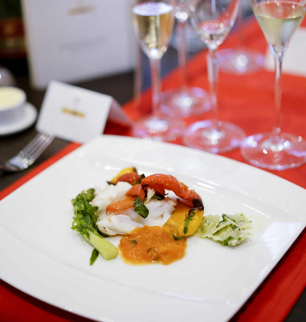 Oven Baked Red Snapper with Medley of Vegetables & Sweet Tomato Concasse_Individual Serving