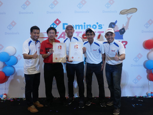 Domino's Fastest Pizza Maker Finals entered Singapore Book of Records