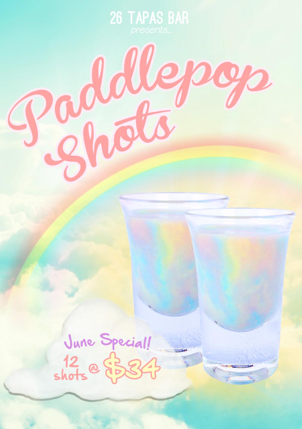 paddle pop shots