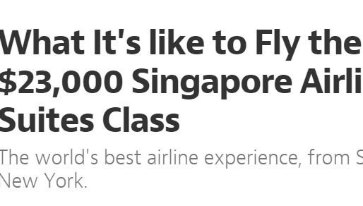 Plagiarise the $23,000 Singapore Airlines Suites Class Experience