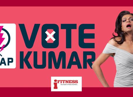 Vote Kumar, before she goes off again.