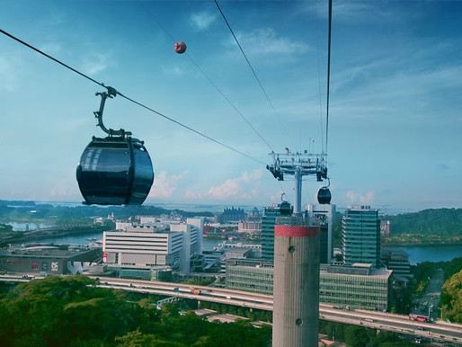 Singapore's iconic cable car opens new line on Sentosa Island