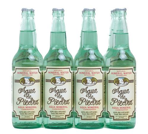 Agua de Piedra Sparkling Water Front View (12 Bottles)