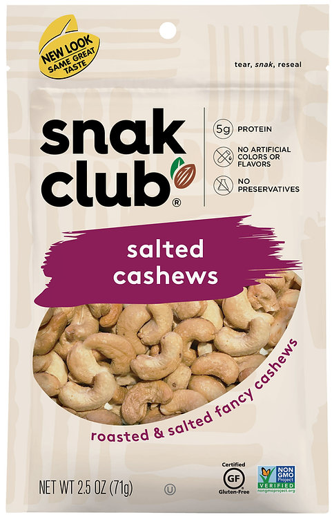 Snak Club, PP Salted Cashews