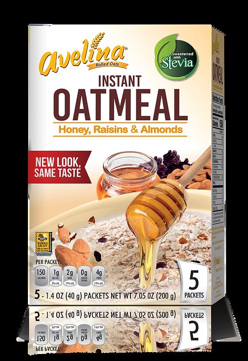 Avelina Honey, Raisins & Almonds Instant Oatmeal 7.05oz (200g)