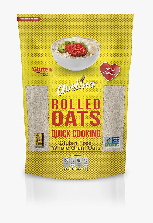 Avelina, Quick Cooking Oats 12.3oz Resealable Bag