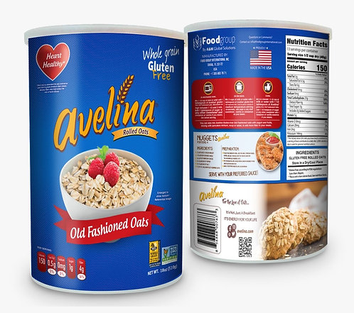 Avelina, Old Fashioned Oats 18oz Canister
