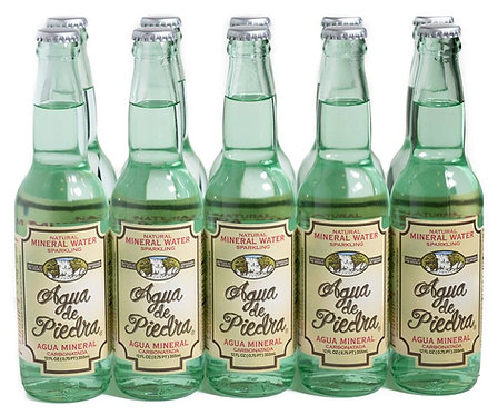 Agua de Piedra Sparkling Water 12 oz, (355ml) Case of 24 Bottles