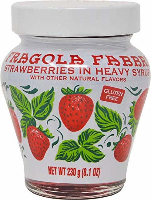 Fabbri, Strawberries in Heavy Syrup 8.1oz (230g)