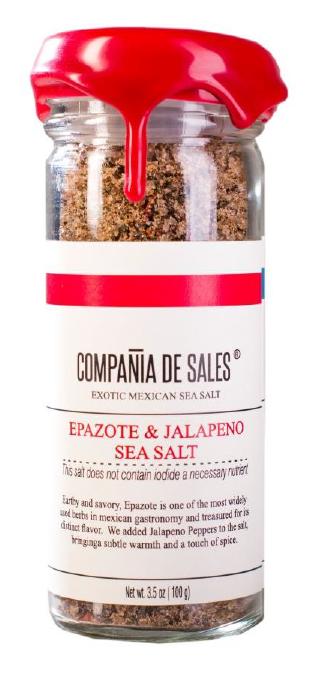 Compania de Sales: Epazote & Jalapeño Sea Salt 100 grs Front View