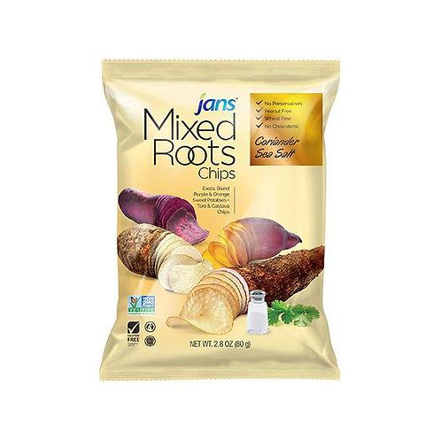 Jans Mixed Roots Chips, Coriander Sea Salt, 2.8 oz (80g)