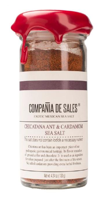 Compania de Sales: Chicatana Ant & Cardamom Sea Salt 100g Front View