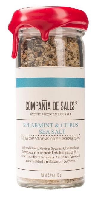 Compania de Sales: Spearmint & Citrus Sea Salt 100 g Front View
