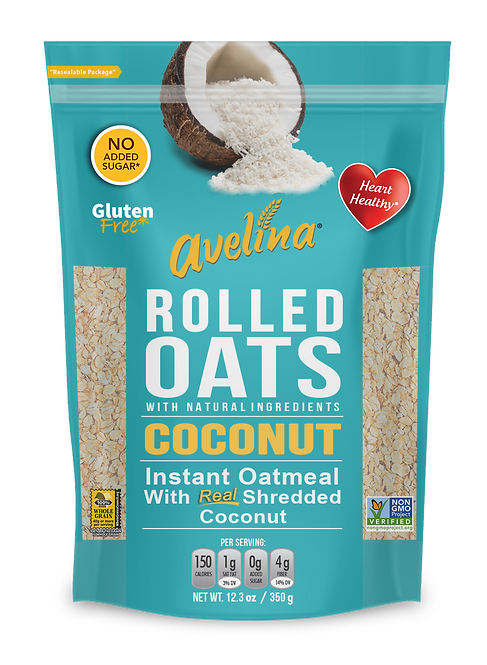 Avelina Coconut Flakes Instant Oatmeal 12.34oz (350g)