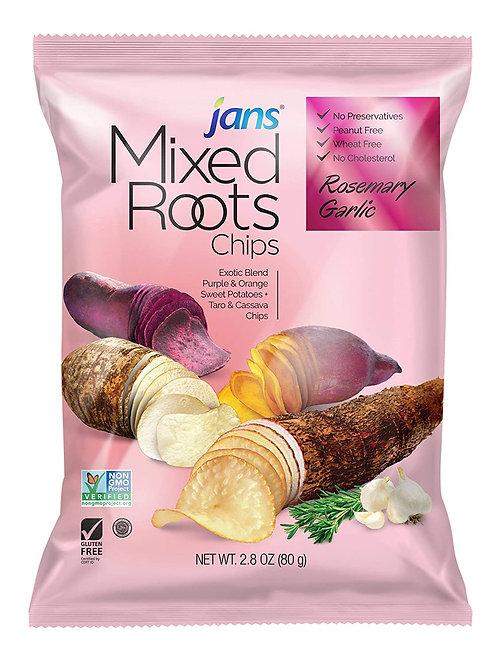 Jans Mixed Roots Chips, Rosemary Garlic, 2.8 oz (80g)