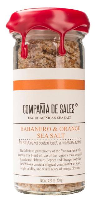 Compania de Sales: Habanero & Orange Sea Salt 100 g Front View