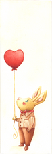 "Bookmark ""Rabbit in Love"""