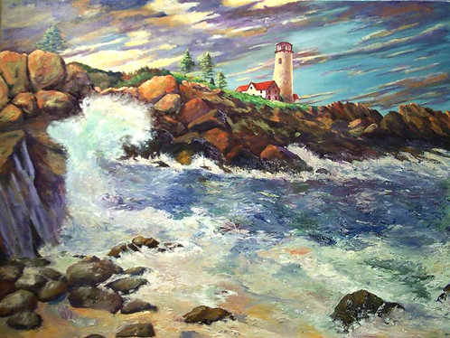 """""""Incoming Storm"""" 30""""x 36"""""""