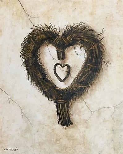 "Heartfelt 20""x24"" Watercolor"