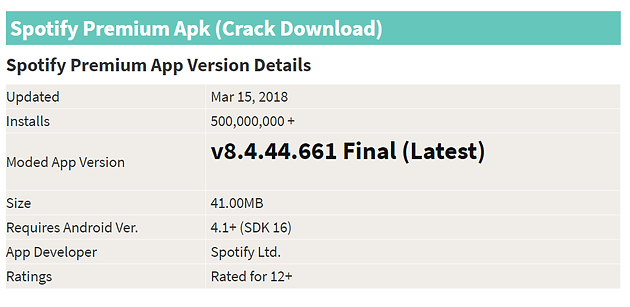 spotify premium gratis apk abril 2018