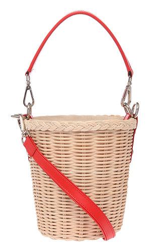 Wicker Bucket Kırmızı