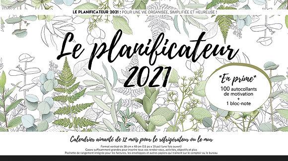 Calendrier type planificateur 2021