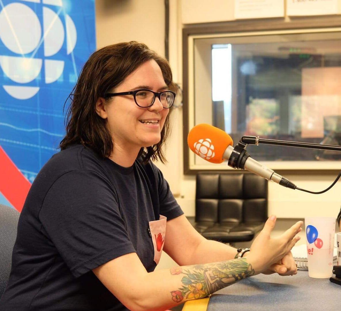 Chloé en entrevue à Radio-Canada