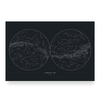 Affiche Carte du ciel