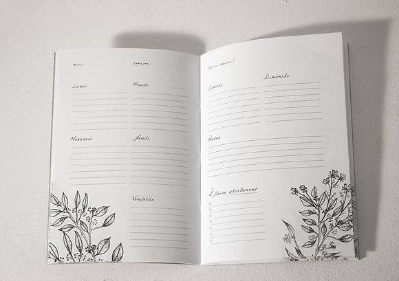 Planificateur hebdomadaire en carnet