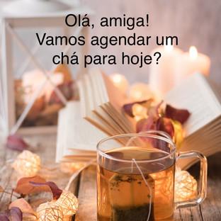 convite, chá