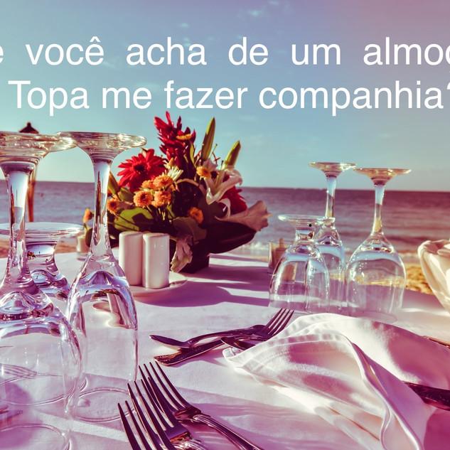 convite, almoço, praia, passeio