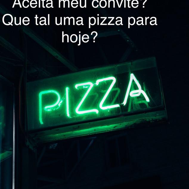 convite, jantar, pizza