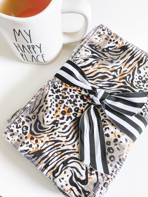 Animal Print Reusable Cloth Wipes