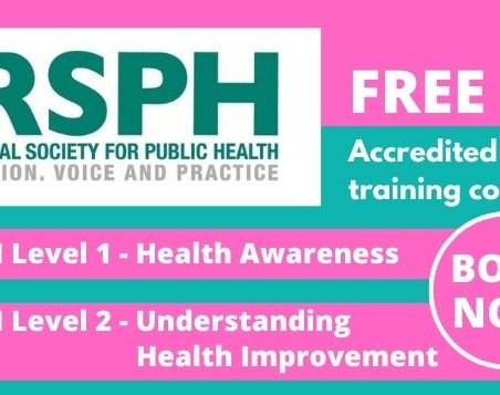 New course dates! FREE Royal Society for Public Health (RSPH) Training Courses.