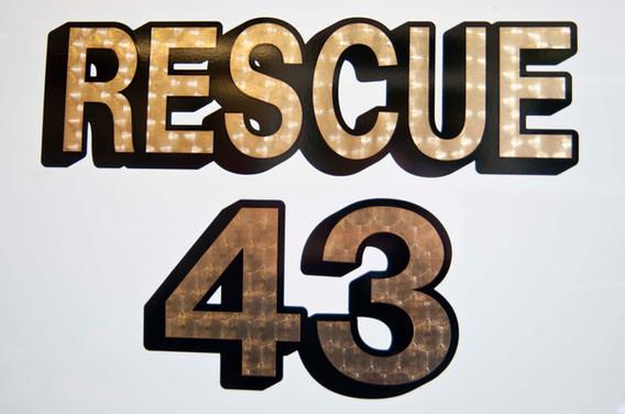 Rescue 43 Lettering