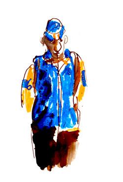'Blue man' by Barbara