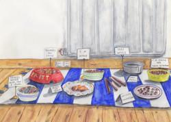 'Cat buffet' by Barbara