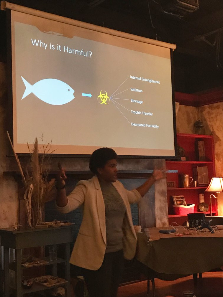 Kea Payton describes reasons why marine debris (particularly microplastics) are harmful to wildlife
