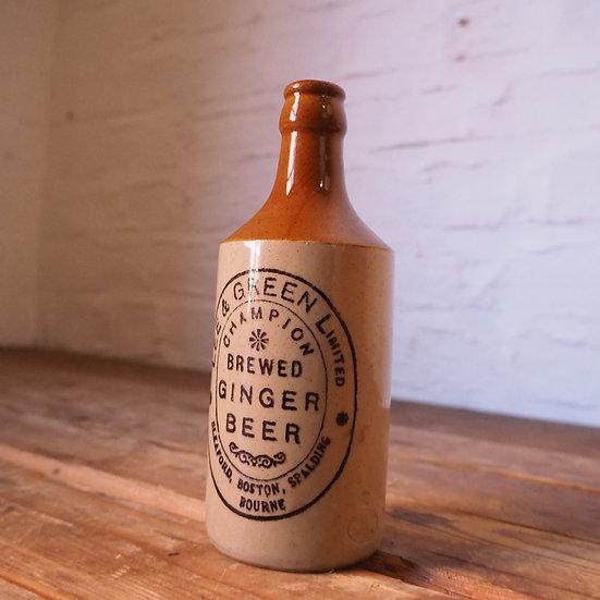 Lee & Green Antique Ceramic Ginger Beer Bottle