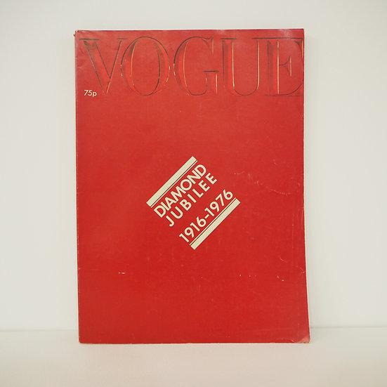 Vintage Vogue Magazine Diamond Jubilee October 15th 1916-1976