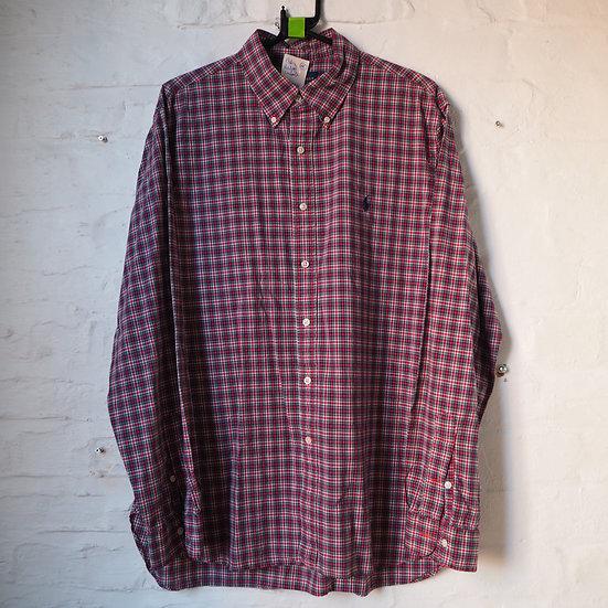 Ralph Lauren Checked Long Sleeve Shirt, Size L