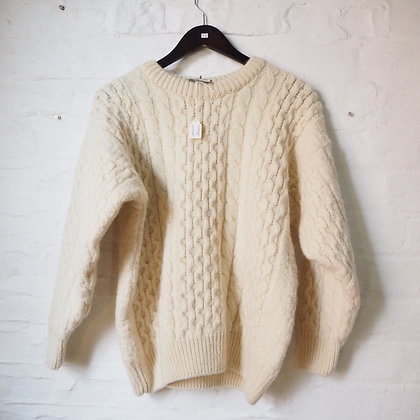 Cream Cable Knit Wool Jumper