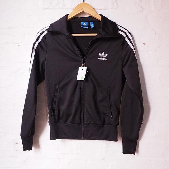 Black and White Addidas Track Jacket Size 8