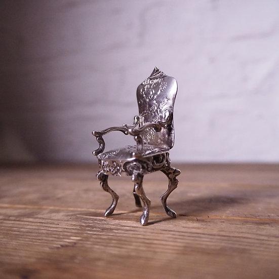 Sterling Silver Cherubs Chair. Hallmarked 1898.