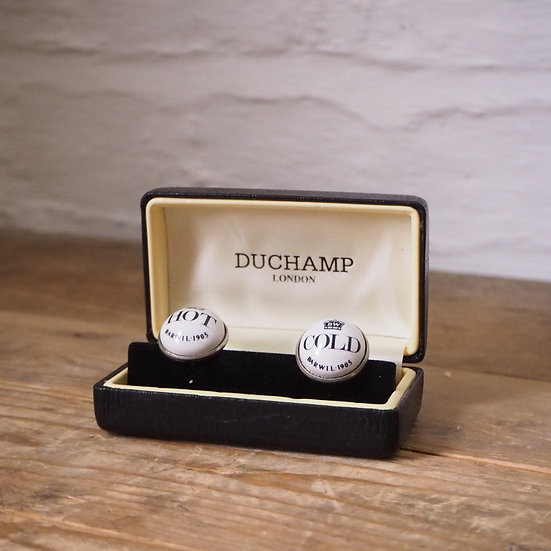 Duchamp Hot & Cold Reclaimed Tap Cufflinks in Box