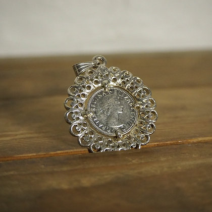 1967 Silver Sixpence Pendant