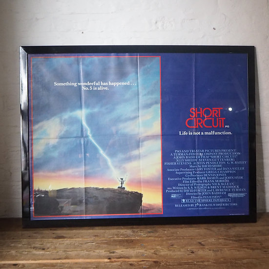 Short Circuit 1 Classic 80s Movie Film Poster Framed