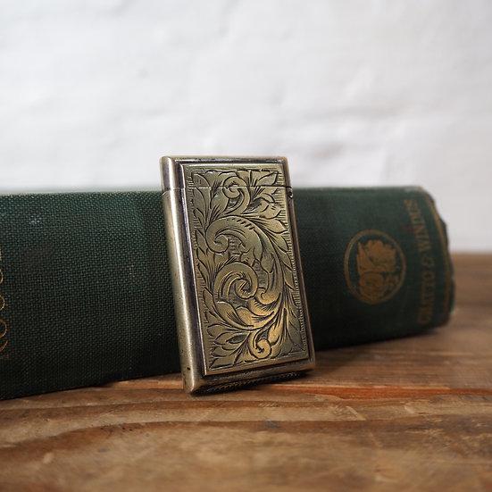 Antique Silver Vesta Match Case