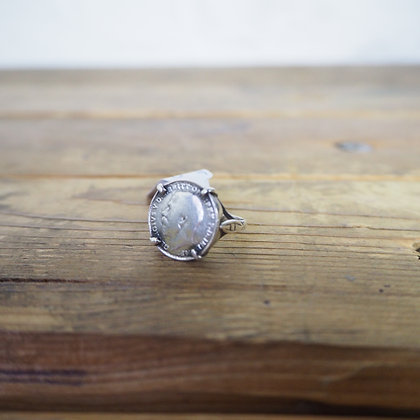 Silver 1916 Three Pence Coin Ring