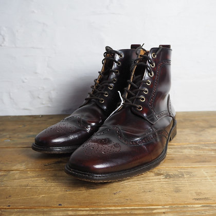 Eur Size 41/UK Size 8, Oxblood Mod-Style Real Leather Boots